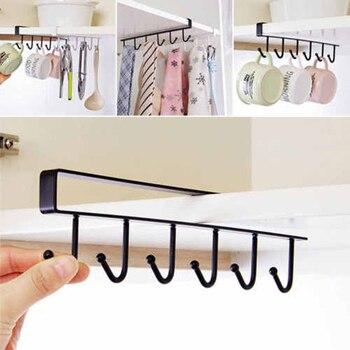 Multifonctionnel Traceless Sans Clou En Metal 6 Crochets Porte