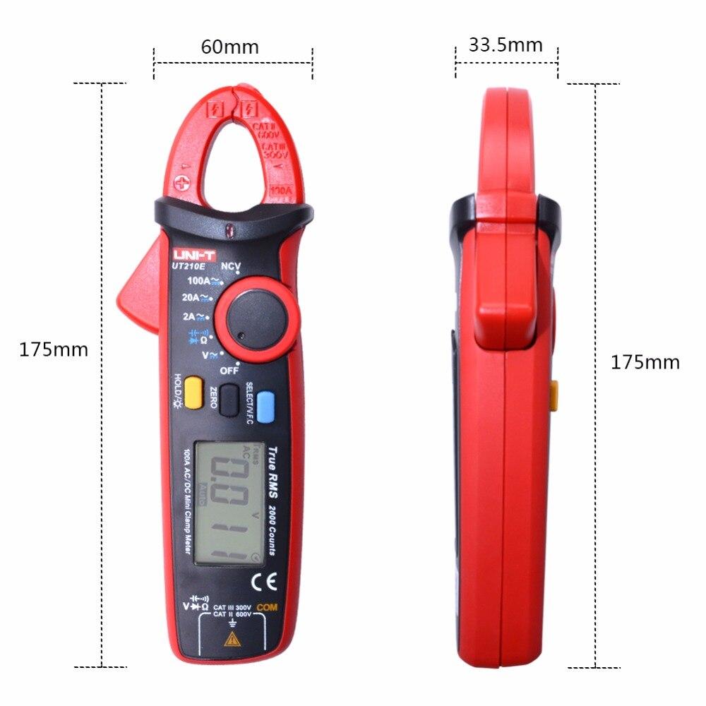 UNI T UT210E Digital Multimeter True RMS Clamp Meter AC/DC Voltmeter ...