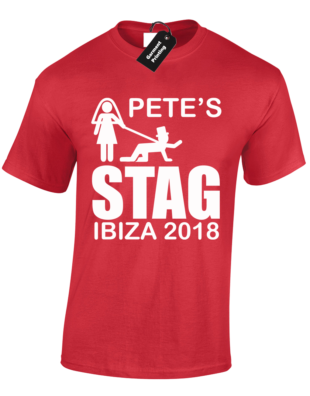 Personalised Custom Printed T Shirts T-Shirt Men Women Stag Hen Tee New