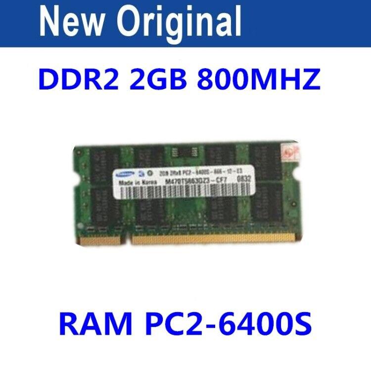 Para SAMSUNG 2 GB 2RX8 PC2-6400S 800 MHz DDR2 2 GB memoria portátil 2G pc2 6400 800 MHz portátil módulo SODIMM RAM