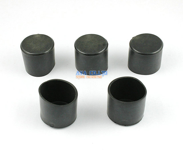 36 Pieces 28mm Round Rubber Furniture Chair Table Leg Cover Floor Protector