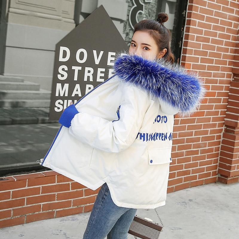 Brieu abrigos mujer invierno 2018 Short Cotton Coat Simple Winter Jacket for Women Fur Collar winter Coat Women Outerwear Parkas