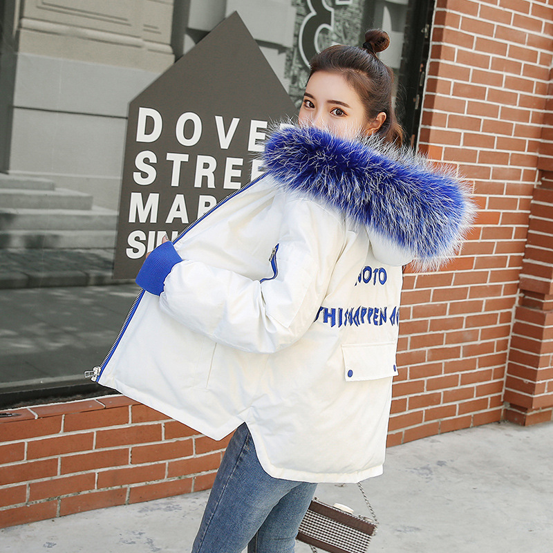 Brieu abrigos mujer invierno 2019 Short Cotton Coat Simple Winter Jacket for Women Fur Collar winter Coat Women Outerwear Parkas