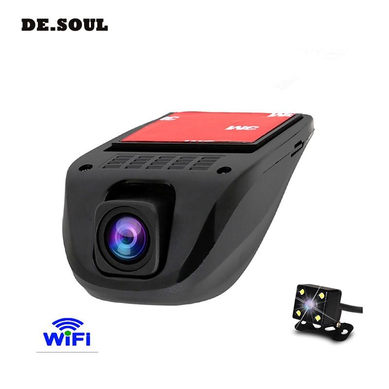 PARASOLANT-caméra DVR pour voiture | Version nuit, double caméra, objectif d'enregistrement, Dashcam, enregistreur vidéo numérique, caméscope Full HD 1080P