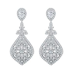 Image 4 - Tuliper Bridal Wedding Earrings For Women Femme свадебные серьги kolczyki Slubne Zircon Party Jewelry 귀걸이 Prom