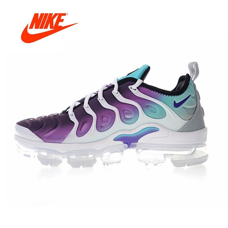 Оригинальный Новое поступление Аутентичные Nike Air Vapormax плюс винограда ТМ Для женщин дышащие кроссовки хорошее качество 924453 101