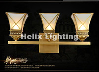 Hot Selling 3L Golden Brass Wall Lamp Indoor Wall Sconce Lighting L650mm H150mm Design Copper Wall light Decoration Outdoor Lamp