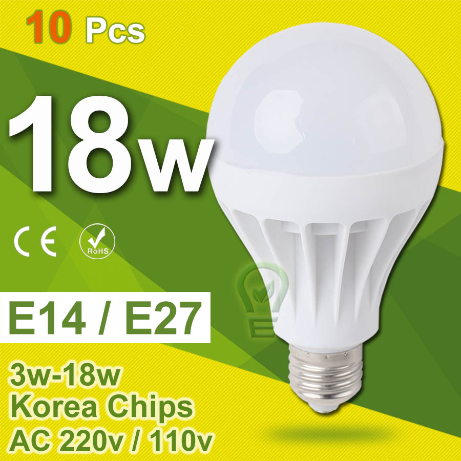 10pcs/Lot Set Lampada LED E27 E14 LED Lamp LED Bulb 18w 15w 12w 9w 7w 5w 3w Bombillas LED Light Bulb Ampoule LED 220v 110v 10w led bulb light ampoule led bombillas 12v smd 5730 chip lampada luz lamp 3w 5w 9w 10w 12w spot bulb portable filament luminaria