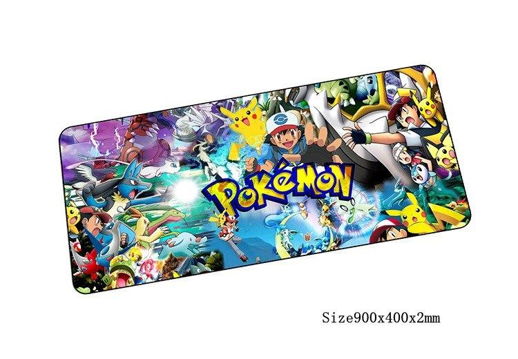 Pokémons souris pad grand pad pour la souris notbook ordinateur tapis de souris verrouillé bord de jeu padmouse gamer pour ordinateur portable clavier souris tapis