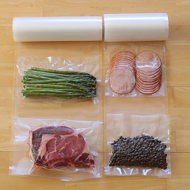 LAGUTE 2 Pack Vacuum Sealer Rolls Size 20CM X 5M for Kitchen Food Saver Storage Bag Fresh Long Keeping Razorri E5200M & E1800-C