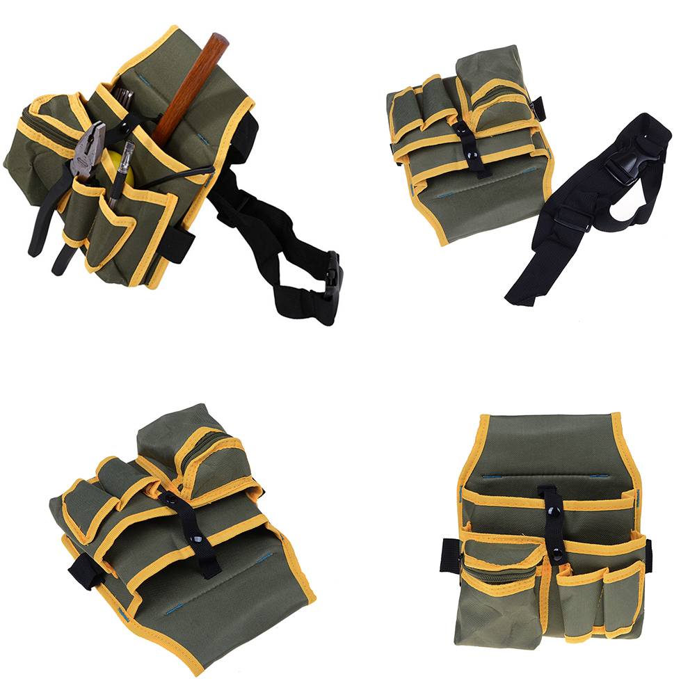 1PCS Mechanic s Electrician Tool Waist Packs Canvas Pouch Bag Multiple  Pocket with Belt Hardware-in Waist Packs from Luggage   Bags on  Aliexpress.com ... e29c17bdb2022