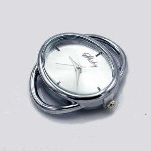 Image 2 - Shsby cá tính Tự Làm hình bầu dục Vàng bạc Xem tiêu đề vòng tròn dây bảng lõi watchband phụ kiện Đồng Hồ bán buôn