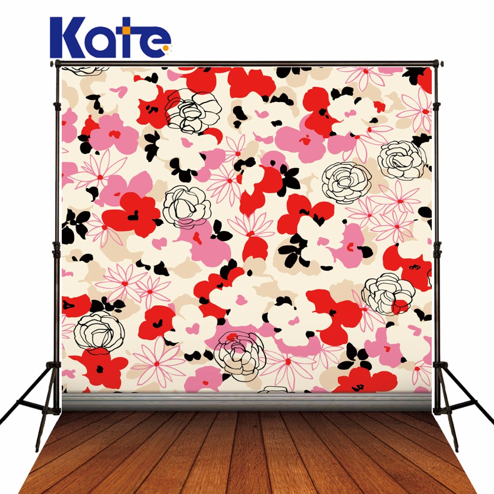 Kate Retro Small Floral Photo Backgrounds Photography Props Wood Floor Background Studio Backdrops For Photography fotografia мягкие игрушки trudi лайка маркус 34 см
