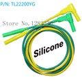 [SA] TL22200YG Ультра-мягкий 13AWG2. 5 квадратных силиконовых проводов доступны для головы желтого и зеленого трехфазного тестового линии-10 пар/