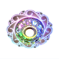 New Arrive Peacock Style Crystal Ceiling Lights Led  Round Aisle Lighting Entrance Hallway Sconce Lights Lamp Surface Mounted