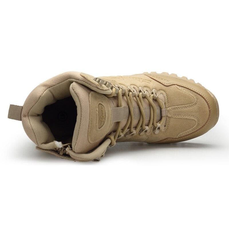 Мужские ботинки в стиле милитари, прочные армейские ботинки, водонепроницаемые Нескользящие ботинки