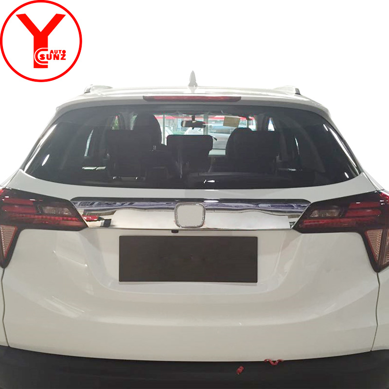 chrome tailgate rear gate cover For <font><b>Honda</b></font> VEZEL H-RV <font><b>HRV</b></font> 2014 2015 2016 2017 ABS auto part for <font><b>honda</b></font> <font><b>hrv</b></font> <font><b>accessories</b></font> 2018 YCSUNZ image