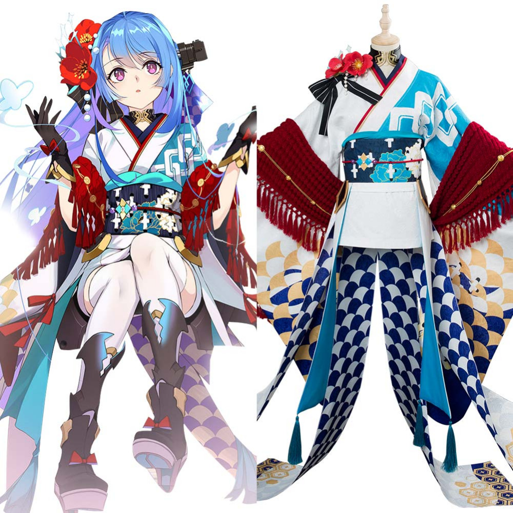 Azur Lane Cosplay Helena Costume New Year Kimono Dress Halloween Carnival Costumes For Women Girls Custom Made