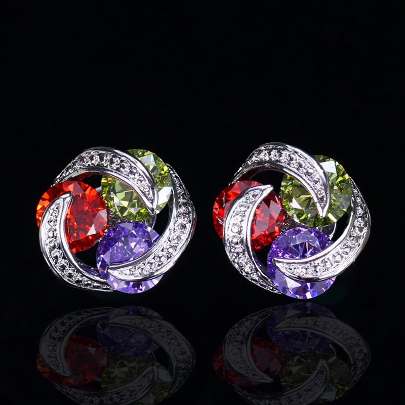 Crystal Stud Earrings8