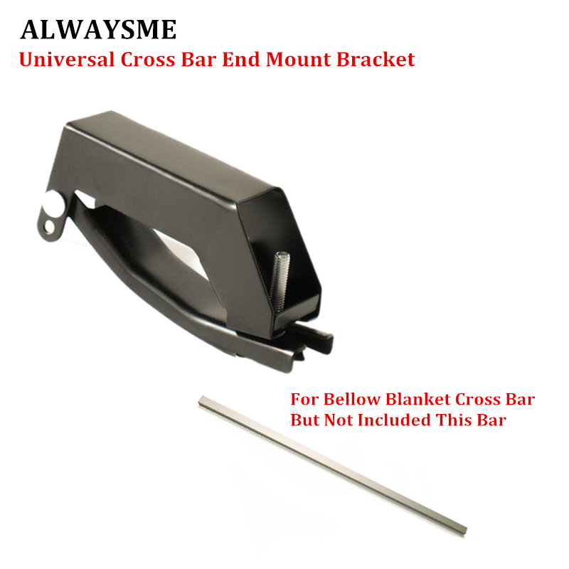 ALWAYSME 1PCS Universal Car Cross Bar End Install Mount Bracket ClmapFor 3CMX2CM Cross Bar Only