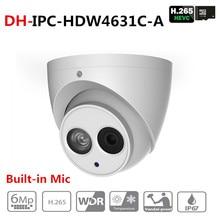 DH IPC-HDW4631C-A 6MP HD POE, сетевые Инфракрасный мини-купол ip-камера металлический корпус Встроенный микрофон камера видеонаблюдения Starnight Vision с логотипом DH