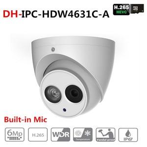 Image 1 - Dahua IPC HDW4631C A 6MP HD POE Network IR Mini Dome IP Camera Metal Case Built in MIC CCTV Camera Starnight Vision with DH logo