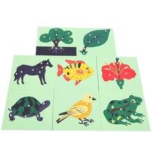 Montessori Matériaux Bébé Enfants En Bois Apprentissage Jouet Éducatif Animal Plante Puzzles Montessori Jouets En Bois Jouets