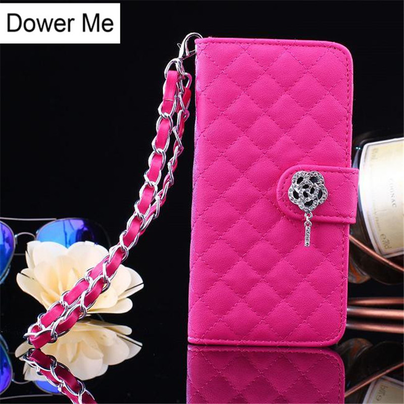 Dower Me Diamond Flower Flip Wallet Handbag Shiny Patent Leather Case Cover For Samsung Galaxy Note 8 5 4 3 S8/7/6 Edge Plus S5 ...