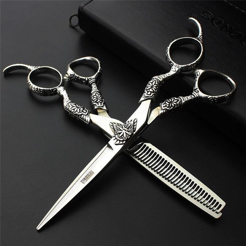 SHARONDS limitada 440C tesouras do cabelo do barbeiro salão de beleza  tesoura tesoura especial 6 de Alta qualidade 2 conjunto 9f88d9e2a4