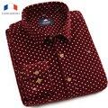 Langmeng 2016 Mens Slim fit Unique neckline stylish Dress long Sleeve corduroy Shirts Mens dress shirts 5colors ,size: M-XXXL