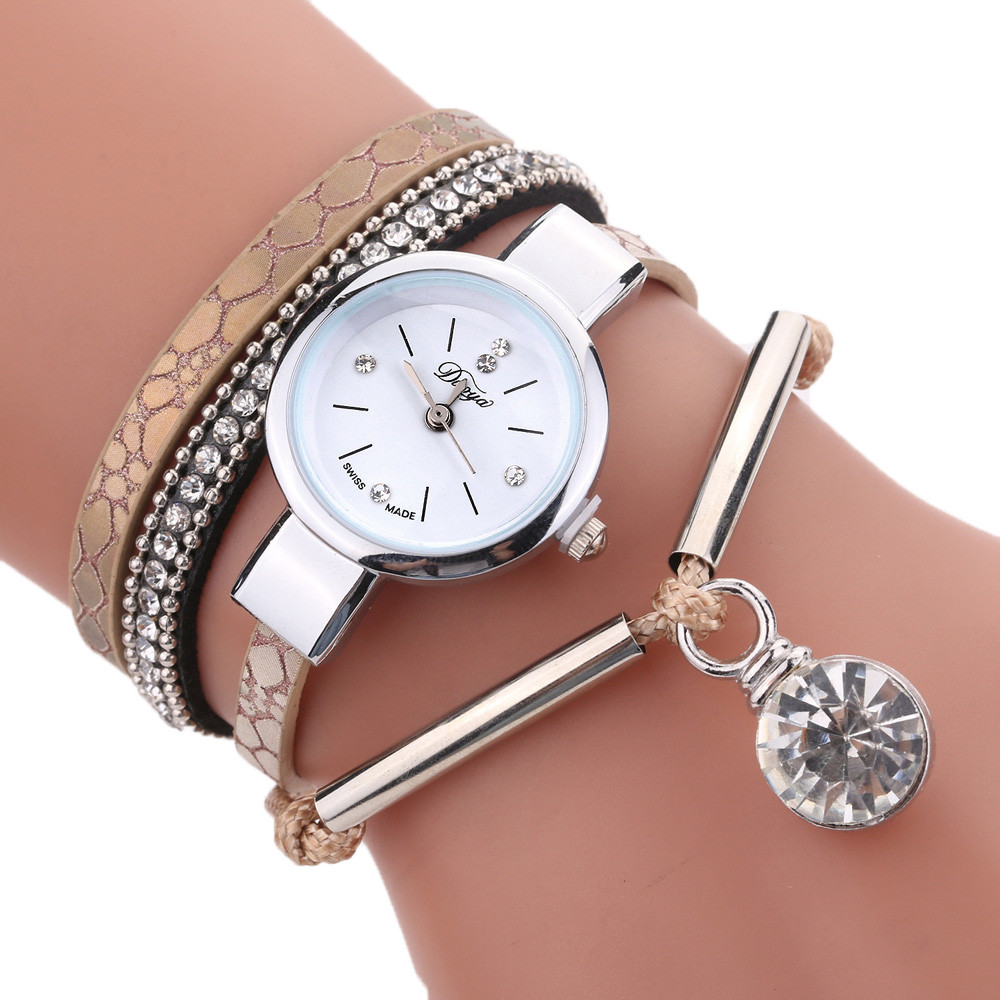 New Fashion Casual Relojes Para Mujer Jewelry Watches Bracelet Wristband Round Dames Horloges Quartz Wristwatches