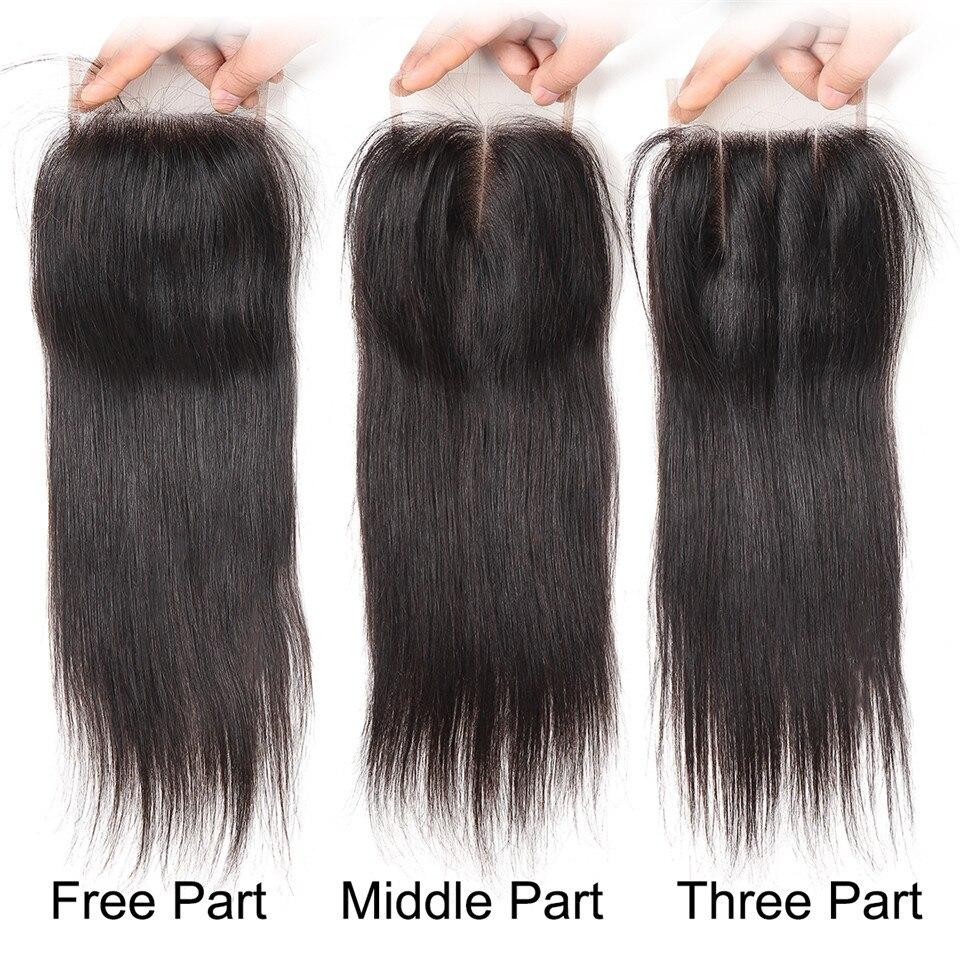 HTB1hicMdRjTBKNjSZFNq6ysFXXa2 Brazilian Straight Hair Bundles With Closure 3 Bundles With Closure Human Hair Bundles with Closure Queen Mary Non Remy Hair