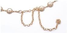 Metallic Gold Chain Belt Women