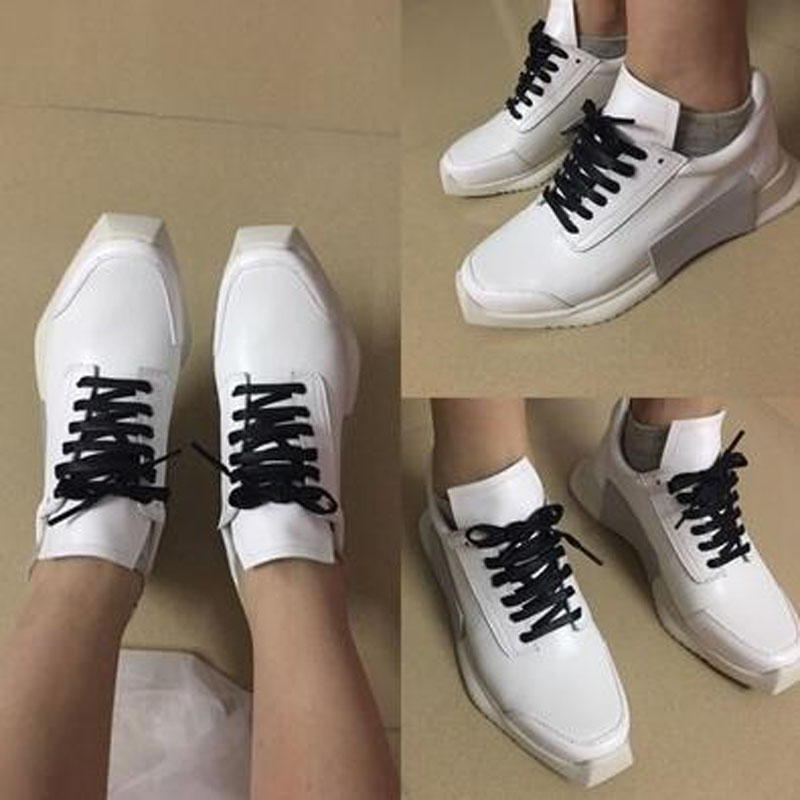 Noir Blanc Casual white Nouveau 2018 Style Confortable Cuir Appartements Black Femmes Été Lacets Femme Respirant Printemps Chaussures En À Véritable 77Pqv