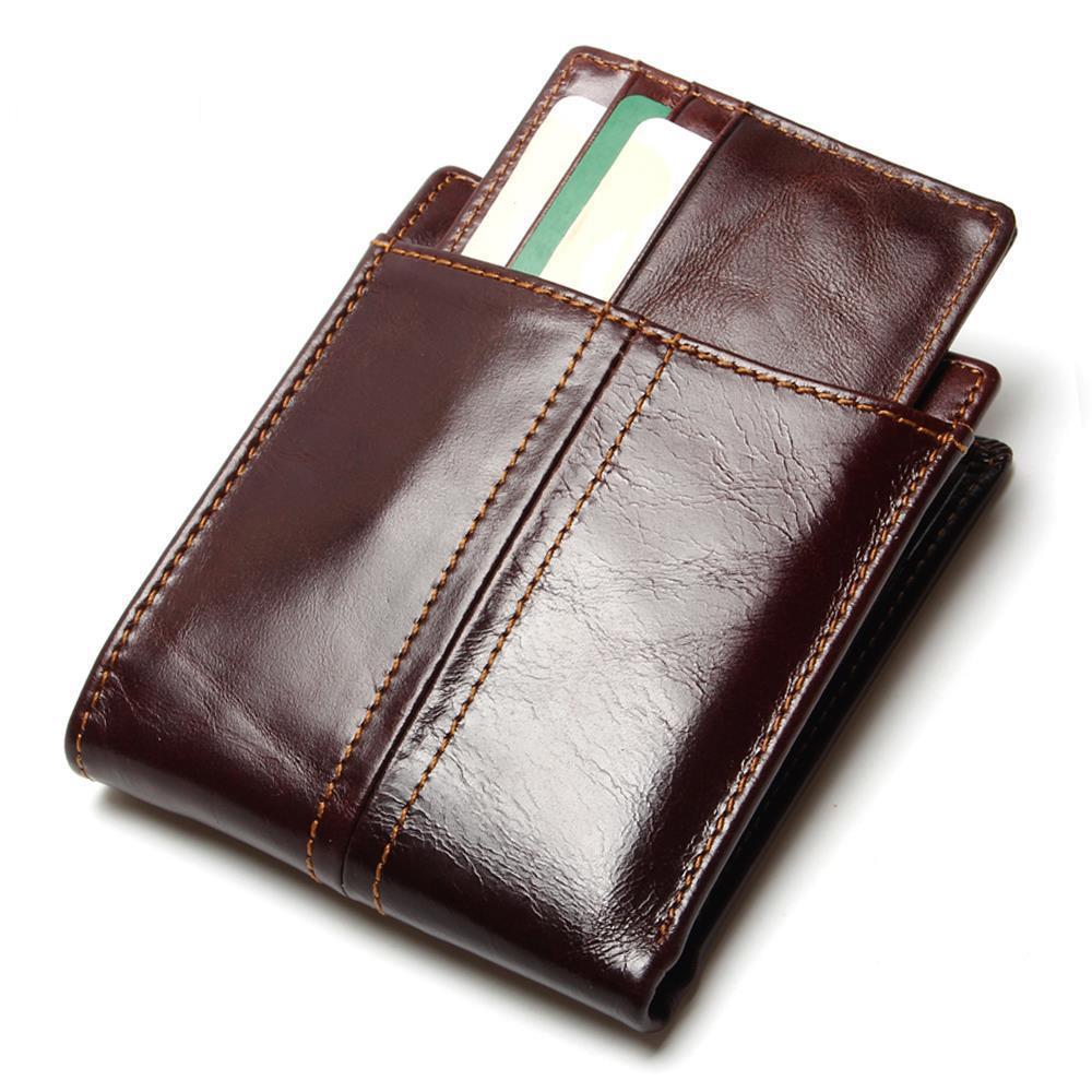 Portefeuille de voyage RFID anti-magnétique en cuir pour hommes grande capacité portefeuille multi-cartes amovible portefeuille de poche pour cartes de crédit