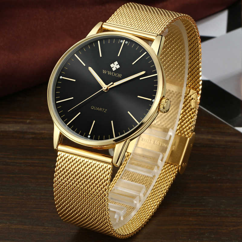 WWOOR Wrist Watch Men 2019 Top Brand Luxury Famous Wristwatch Male Clock Quartz Watch Hodinky Quartz watch Relogio Masculino