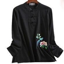 7 цветов синий/серый/желтый/красный хлопок с цветочной вышивкой Тай Чи, боевые художественные костюмы униформа кунг-фу одежда футболки ушу