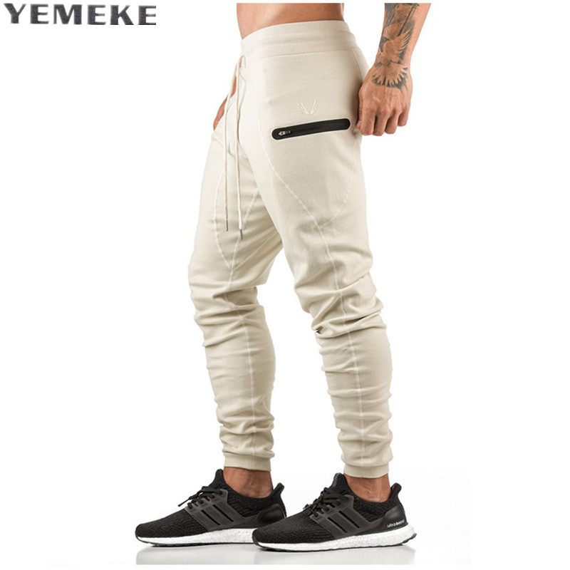 YEMEKE 2017 healthy mens casual pants shark products professional fitness male slimming pants mens trousers size M-2XL