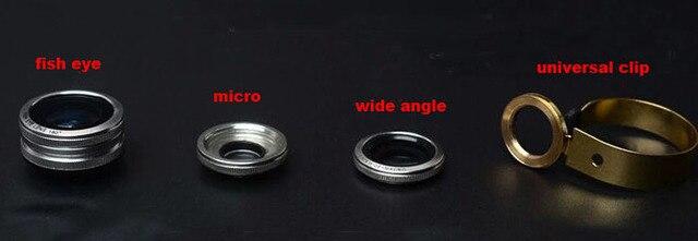 Metal Ring Clip Mobile Phone Lens Fish eye wide angle Lens micro lens For LG Joy H220, Leon 4G LTE H340N,G4 Stylus LS770,LG V10