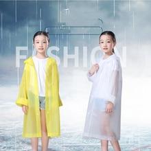 Fashion Children Raincoat Student Rainwear Kids Poncho Translucent Non-disposable Rain Gear Jelly Glue EVA Material Camp Tourism