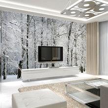 beibehang papel de parede. birch tree forest scenery winter landscape design decorative pattern large photos murals wallpaper