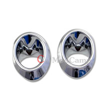 ABS Chrome Front Head Fog Light Lamp Circle Trim 2pcs For Honda Civic 10th Gen 4dr