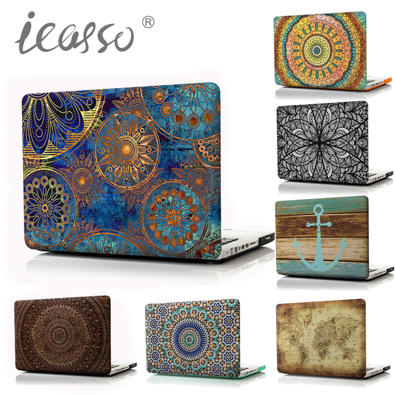 new product db775 f4eb9 US $34.0 |2017 New icasso Bohemia Print Matte Case For Macbook Air 13 Case  Air 11 Pro Retina MacBook Pro 13 Case Laptop case cover-in Laptop Bags & ...