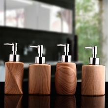 Ceramic Wood Grain Emulsion Dispensing Bottle Portable Soap Dispensers Hotel Club Hand Sanitizer Shower Gel Shampoo Bottle