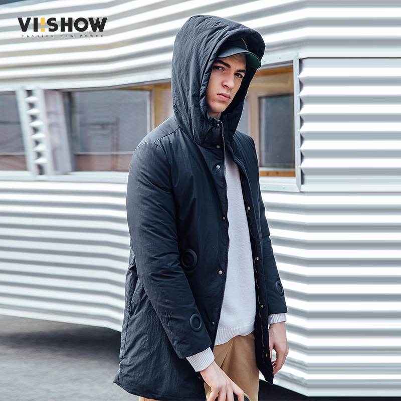 VIISHOW Winter Jacket Men Outwear Fleece Thick Warm Cotton Down Coat Windproof Parka Men Brand Clothing Ring design YC2715174