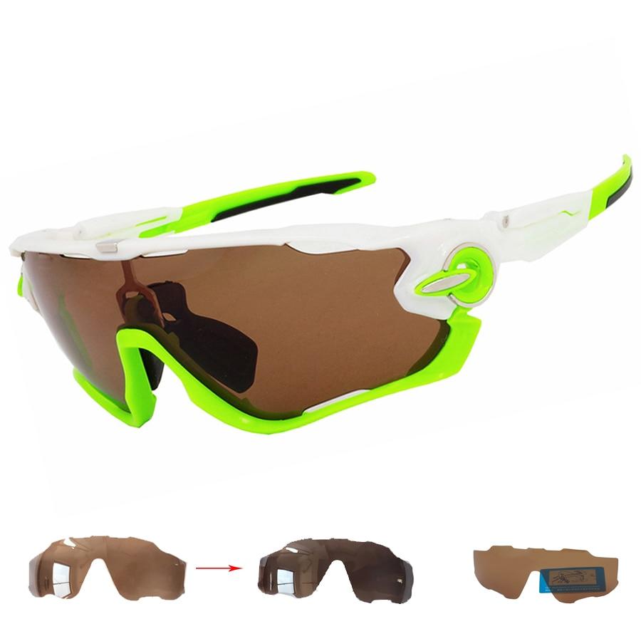 Prix pour New brun verres photochromiques polarisés route vélo de course lunettes de sport marque vélo lunettes vélo lunettes hommes femmes
