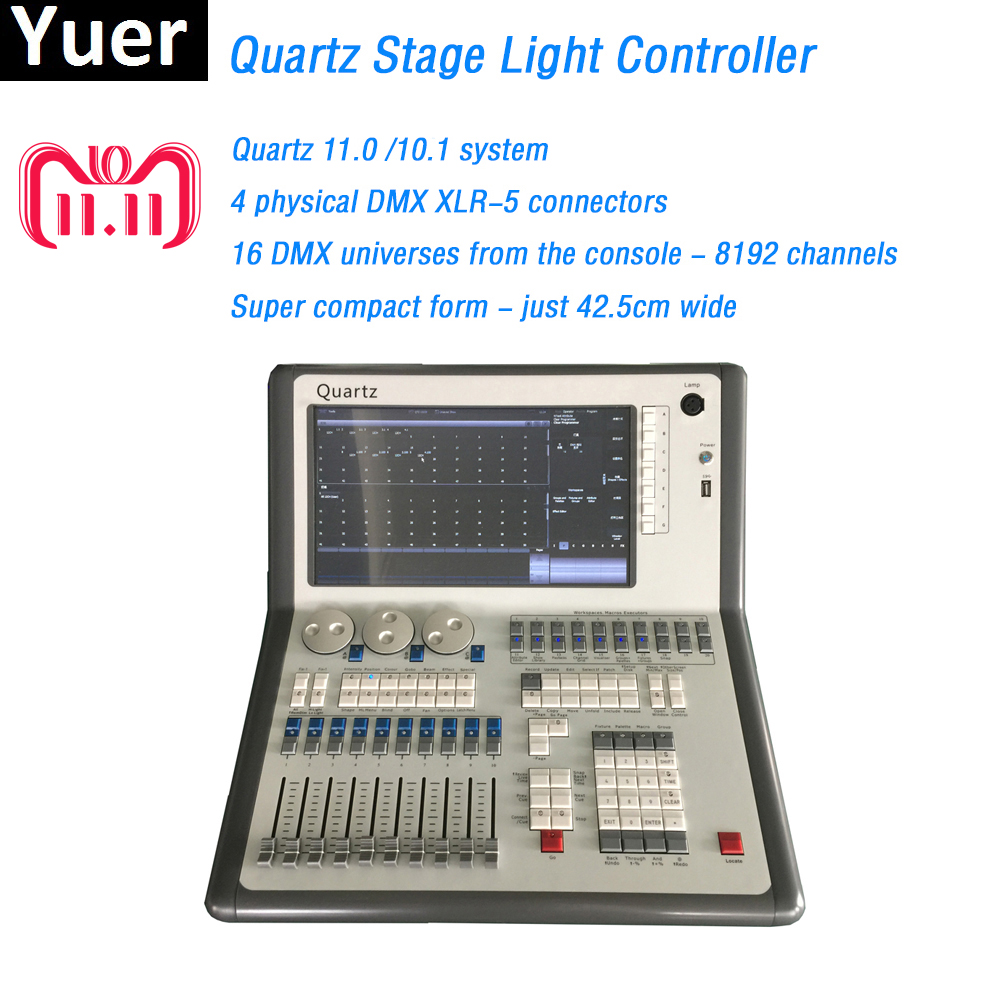 Stage lights DMX Console DMX512 Controller Titan 11.0/10.1 System Super compact for dj light disco moving head LED Par Console show time disco 240 dmx controller stage light dmx signal console for xlr 3 led par moving head dj light stage effect light