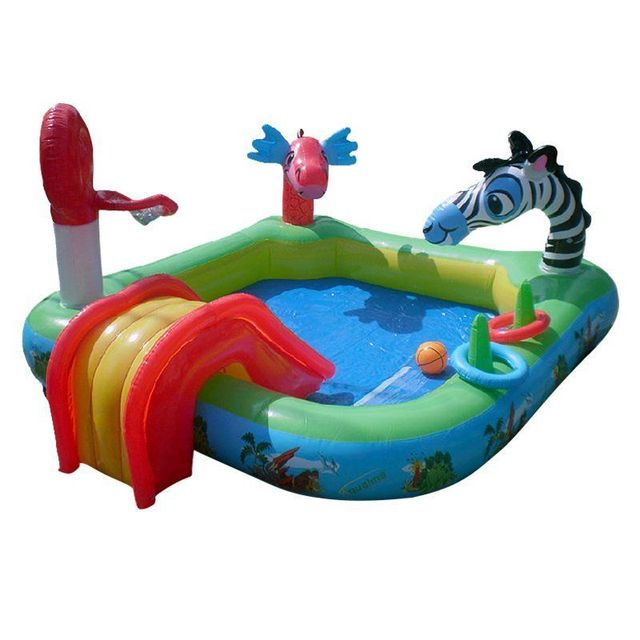 Animal Multifunctional Inflatable Swimming Pool Child Baby Large Paddling With Slides Kids Fountain