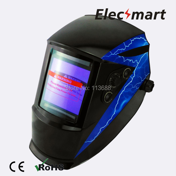Lightning type auto darkening welding helmet TIG MIG MMA electric welding mask/helmet/welder cap/lens for welding fire flames auto darkening solar powered welder stepless adjust mask skull lens for welding helmet tools machine free shipping