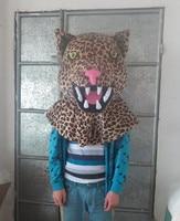hot sale leopard head mascot costume leopard mascot